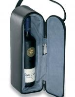 Single Bottle Leather Wine Carrier