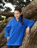 Kids 1/2 Zip Poly Fleece Top