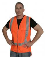 Vest Zip D/N Orange
