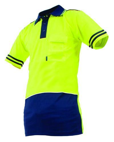 Day only hi vis polo hi vis safety hi vis safety for Hi vis polo shirts with pocket