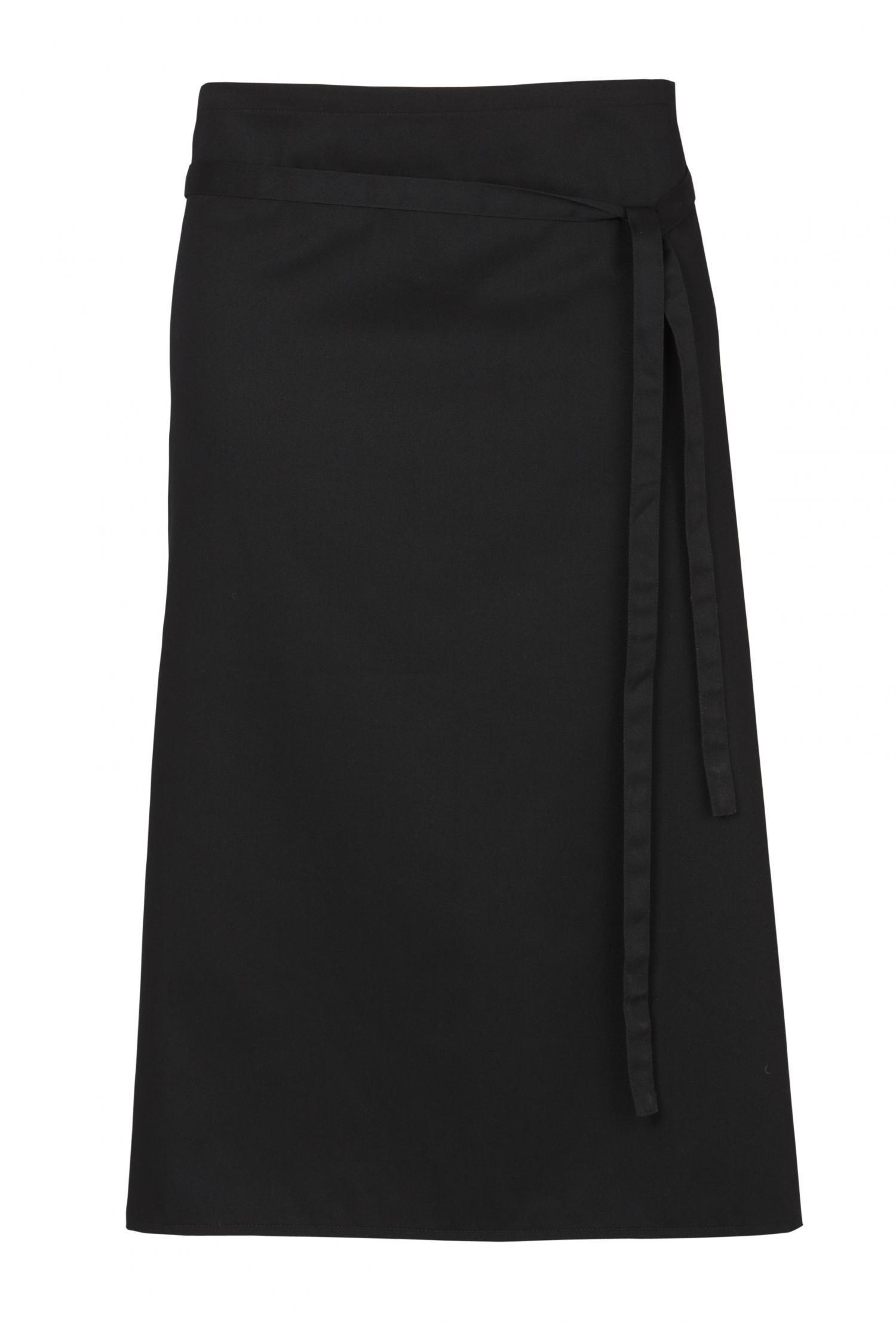 White bistro apron - Black