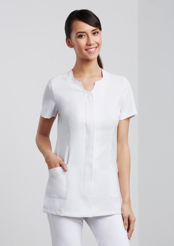 Ladies eden tunic healthcare the uniform factory for Spa uniform white