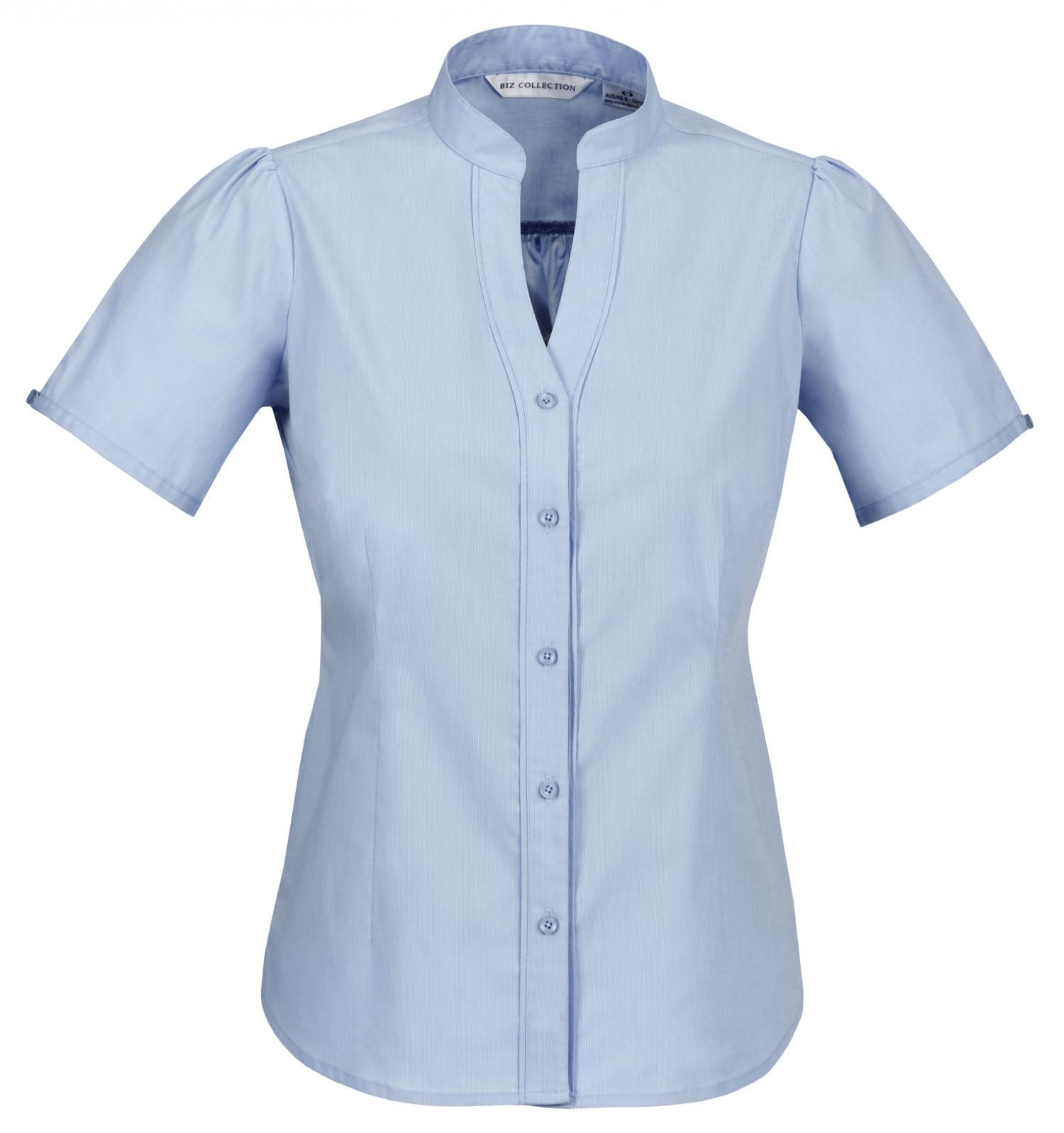 Ladies Chevron Up Collar Shirt Business Shirts The